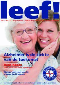 Alzheimer is de ziekte van de toekomst