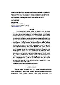 Amat Ariyanto Pendidikan Ekonomi, FKIP Universitas Muhammadiyah Purworejo