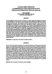ANALISA MEDIA PEMADAM FLUOROPROTEIN FOAM CONCENTRATE FP-70 PEMADAMAN KEBAKARAN MINYAK GASOLINE