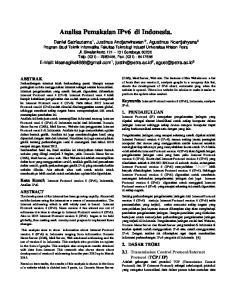 Analisa Pemakaian IPv6 di Indonesia