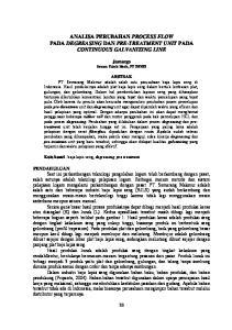 ANALISA PERUBAHAN PROCESS FLOW PADA DEGREASING DAN PRE-TREATMENT UNIT PADA CONTINUOUS GALVANIZING LINE