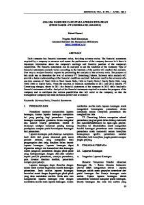 ANALISA RASIO SOLVABILITAS LAPORAN KEUANGAN (STUDI KASUS : PT CEMERLANG JAKARTA) Fahmi Kamal
