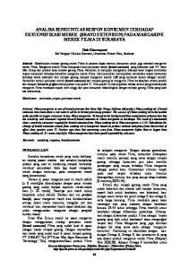ANALISA SENSITIVITAS RESPON KONSUMEN TERHADAP EKSTENSIFIKASI MEREK (BRAND EXTENSION) PADA MARGARINE MEREK FILMA DI SURABAYA