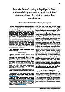 Analisis Beamforming Adaptif pada Smart Antenna Menggunakan Algoritma Robust Kalman Filter : kondisi stasioner dan nonstasioner