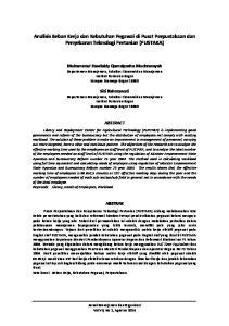 Analisis Beban Kerja dan Kebutuhan Pegawai di Pusat Perpustakaan dan Penyebaran Teknologi Pertanian (PUSTAKA)