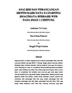 ANALISIS DAN PERANCANGAN SISTEM BASIS DATA E-LEARNING SMACIMAYA BERBASIS WEB PADA SMAN 1 CIBITUNG