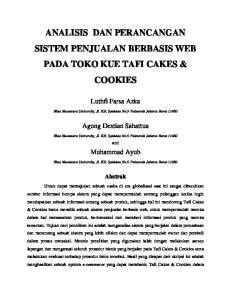 ANALISIS DAN PERANCANGAN SISTEM PENJUALAN BERBASIS WEB PADA TOKO KUE TAFI CAKES & COOKIES