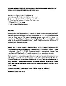ANALISIS DESAIN FORMULIR LEMBAR MASUK DAN KELUAR RAWAT INAP (RM1) DI RUMAH SAKIT UMUM KOTA SEMARANG TAHUN 2013