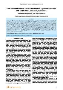 ANALISIS FENETIK KULTIVAR CABAI BESAR Capsicum annuum L. DAN CABAI KECIL Capsicum frutescens L