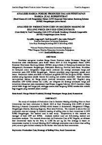 Analisis Harga Pokok Produksi dalam Penetapan Harga... Faradilla Anggraeni