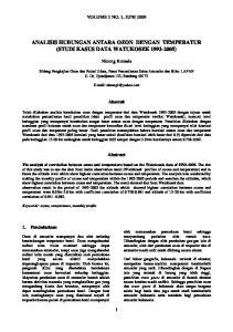 ANALISIS HUBUNGAN ANTARA OZON DENGAN TEMPERATUR (STUDI KASUS DATA WATUKOSEK )