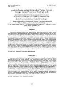 Analisis Isozim untuk Mengetahui Variasi Genetik Sebagai Upaya Pemurnian Ras Sapi Aceh