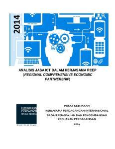 ANALISIS JASA ICT DALAM KERJASAMA RCEP (REGIONAL COMPREHENSIVE ECONOMIC PARTNERSHIP)