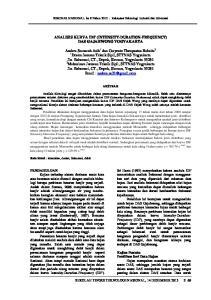 ANALISIS KURVA IDF (INTENSITY-DURATION-FREQUENCY) DAS GAJAHWONG YOGYAKARTA