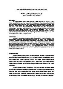 ANALISIS LIMBAH RADIOAKTIF CAIR DAN SEMI CAIR. Mardini, Ayi Muziyawati, Darmawan Aji Pusat Teknologi Limbah Radioaktif