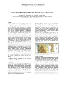 Analisis Litofasies Batuan Vulkanik Pare-Pare di Daerah Lumpue Sulawesi Selatan