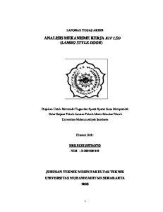 ANALISIS MEKANISME KERJA KIT LSD (LAMBO STYLE DOOR)