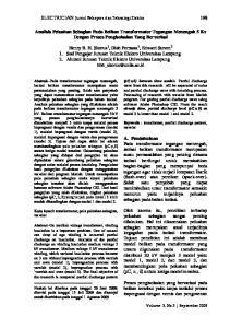 Analisis Peluahan Sebagian Pada Belitan Transformator Tegangan Menengah 5 Kv Dengan Proses Pengisolasian Yang Bervariasi