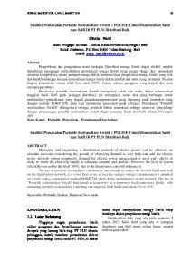 Analisis Pemakaian Portable Sectionalizer Swicth ( POLISI) UntukMenurunkan Saidi dan Saifi Di PT PLN Distribusi Bali