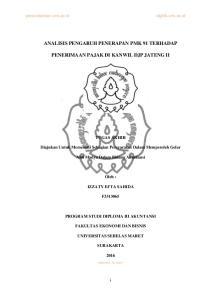 ANALISIS PENGARUH PENERAPAN PMK 91 TERHADAP PENERIMAAN PAJAK DI KANWIL DJP JATENG II