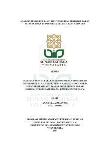 ANALISIS PENGARUH RASIO PROFITABILITAS TERHADAP ZAKAT PT. BANK RAKYAT INDONESIA SYARIAH TAHUN