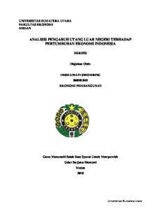 ANALISIS PENGARUH UTANG LUAR NEGERI TERHADAP PERTUMBUHAN EKONOMI INDONESIA