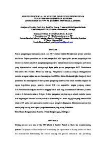 ANALISIS PENGENDALIAN KUALITAS PADA PROSES PENGERINGAN TEH HITAM DENGAN METODE SIX SIGMA (STUDI KASUS DI PTPN XII (PERSERO) WONOSARI, LAWANG)