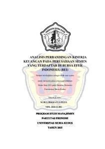 ANALISIS PERBANDINGAN KINERJA KEUANGAN PADA PERUSAHAAN SEMEN YANG TERDAFTAR DI BURSA EFEK INDONESIA (BEI)