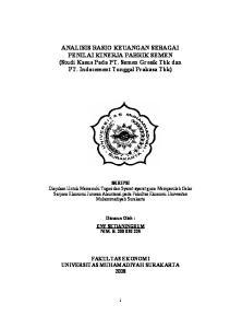 ANALISIS RASIO KEUANGAN SEBAGAI PENILAI KINERJA PABRIK SEMEN (Studi Kasus Pada PT. Semen Gresik Tbk dan PT. Indocement Tunggal Prakasa Tbk)