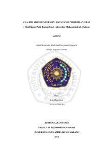ANALISIS SISTEM INFORMASI AKUNTANSI PERSEDIAAN OBAT. ( Studi Kasus Pada Rumah Sakit Universitas Muhammadiyah Malang)
