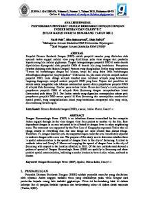 ANALISIS SPASIAL PENYEBARAN PENYAKIT DEMAM BERDARAH DENGUE DENGAN INDEKS MORAN DAN GEARY S C (STUDI KASUS DI KOTA SEMARANG TAHUN 2011)