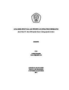 Analisis Swot Dalam Penetuan Strategi Bersaing Pdf Free Download