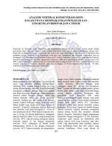 ANALISIS VERTIKAL KONSENTRASI OZON DALAM UPAYA MENINGKATKAN PENGELOLAAN LINGKUNGAN HIDUP DI JAWA TIMUR