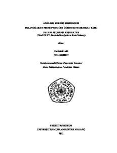 ANALISIS YURIDIS SOSIOLOGIS PELANGGARAN PRINSIP UTMOST GOOD FAITH (IKTIKAD BAIK)