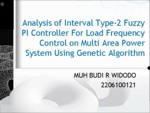 Analysis of Interval Type-2 Fuzzy PI Controller For Load Frequency Control on Multi Area Power System Using Genetic Algorithm