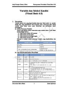 Andy Prasetyo Utomo, S.Kom Pemrograman Terstruktur (Visual Basic 6.0)