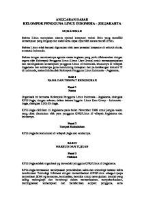 ANGGARAN DASAR KELOMPOK PENGGUNA LINUX INDONESIA - JOGJAKARTA
