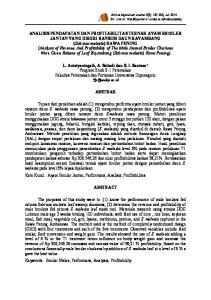 Animal Agriculture Journal 3(2): , Juli 2014 On Line at :