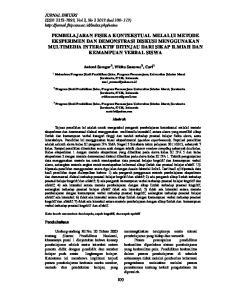Antomi Saregar 1), Widha Sunarno 2), Cari 3) Surakarta, 57126, Indonesia Surakarta, 57126, Indonesia