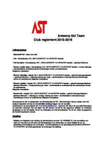 Antwerp Ski Team Club reglement