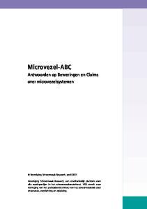 Antwoorden op Beweringen en Claims over microvezelsystemen