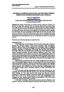 APLIKASI ALGORITMA SOLLIN DALAM PENCARIAN POHON PERENTANG MINIMUM PROVINSI JAWA TENGAH