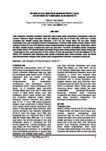 APLIKASI METODE ANALYTICAL HIERARCHY PROCESS (AHP) DALAM PRIORITAS PENANGANAN JALAN KABUPATEN