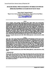 APLIKASI MOBILE WEB GEOGRAPHIC INFORMATION SYSTEM (WEBGIS) PARIWISATA DI KABUPATEN ROTE NDAO