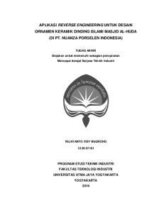 APLIKASI REVERSE ENGINEERING UNTUK DESAIN ORNAMEN KERAMIK DINDING ISLAMI MASJID AL-HUDA (DI PT. NUANZA PORSELEN INDONESIA)