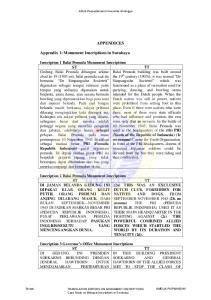 APPENDICES. Appendix 1: Monument Inscriptions in Surabaya