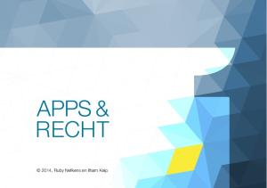 APPS & R E C H T. 2014, Ruby Nefkens en Ilham Keip