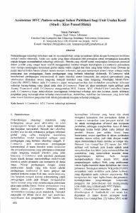 Arsitektur MVC Pattern sebagai Solusi Publikasi bagi Unit Usaha Keeil (Studi : Kios Ponsel Rizki)