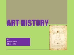 ART HISTORY. V4 Renaissance
