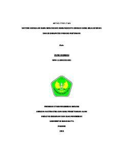 ARTIKEL PENELITIAN SMA DI KABUPATEN PADANG PARTIAMAN. Oleh: PUTRI ANDRIANI NPM: